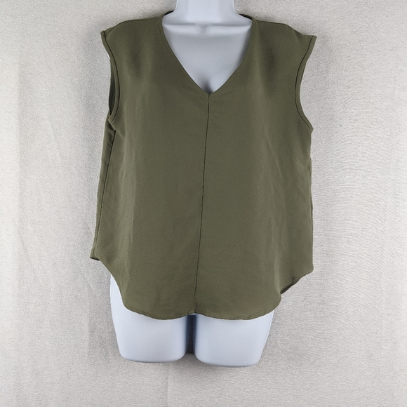 Forever 21 green boxy tank